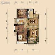 金地悦峰3室2厅2卫109平方米户型图