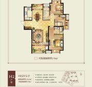 正荣学府壹号3室2厅2卫116平方米户型图