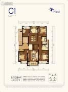 万科星空4室2厅2卫125平方米户型图