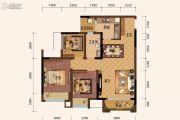 旭阳台北城敦美里3室2厅1卫67平方米户型图