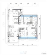 尚�Z瑞府3室2厅2卫102平方米户型图