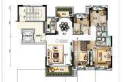 碧桂园翡翠华庭4室2厅2卫138平方米户型图