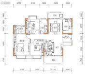 保华铂郡3室2厅2卫118平方米户型图