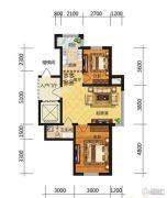 冠城国际2室2厅1卫0平方米户型图