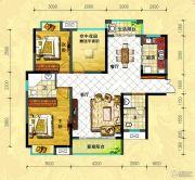 中央新城2室2厅2卫112平方米户型图