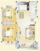 祥育苑2室2厅1卫92平方米户型图