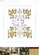 叠翠峰3室2厅1卫85--103平方米户型图