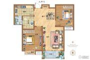 东城名邸2室2厅1卫100平方米户型图