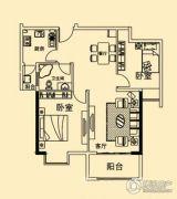 香溢花城2室2厅1卫0平方米户型图