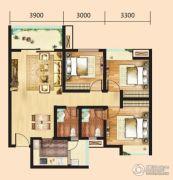 汉成天地3室2厅2卫102平方米户型图