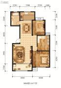 江山花园3室2厅1卫116平方米户型图