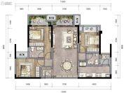 新城朗隽大都会3室2厅2卫84--104平方米户型图