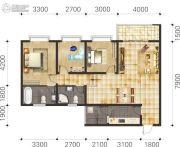 双语雅苑3室2厅2卫92--110平方米户型图