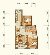 维多利大商城3室2厅1卫116平方米户型图