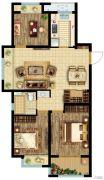 公元壹号3室2厅1卫95平方米户型图