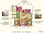 保利中央公园2室1厅2卫0平方米户型图