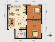 北府新城2室1厅1卫72平方米户型图