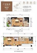 山海汇2室2厅2卫44--54平方米户型图