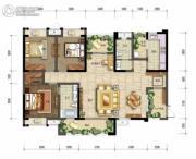 棠湖泊林城3室3厅2卫134平方米户型图