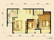鸿坤・曦望山2室2厅1卫0平方米户型图