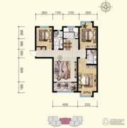 明瀚花香城3室2厅2卫120平方米户型图