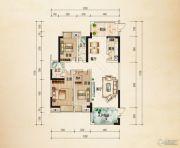 熙岸尚城二期3室2厅2卫145平方米户型图