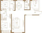 保利・金香槟3室2厅2卫128平方米户型图