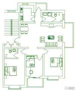 锦绣东城3室2厅2卫102平方米户型图