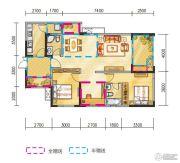 金地天府城3室2厅2卫97平方米户型图