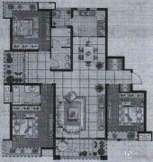 盛世花园3室2厅2卫142平方米户型图