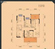 楚豪时代天骄3室2厅2卫107平方米户型图