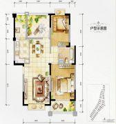 万达西双版纳国际度假区2室2厅1卫90平方米户型图