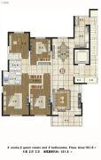 铂金时代4室2厅2卫0平方米户型图