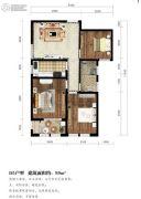 东湖方舟3室1厅1卫99平方米户型图