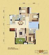中铁逸都3室2厅2卫110平方米户型图