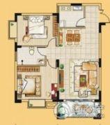 龙门御城2室2厅1卫84平方米户型图