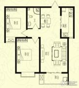 芝兰明仕二期2室2厅1卫96平方米户型图