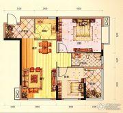 未来城11号3室2厅1卫89平方米户型图