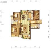 富力十号3室2厅2卫118平方米户型图