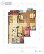 佳兆业丽晶公馆3室2厅2卫93平方米户型图