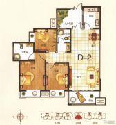 恒基时代广场3室2厅2卫131平方米户型图