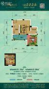麓云谷1室1厅1卫0平方米户型图