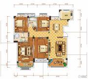 钓鱼台二期4室2厅2卫133平方米户型图