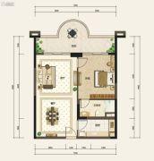 嘉和冠山海1室2厅1卫85平方米户型图
