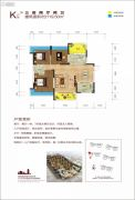 金钟・时代城3室2厅2卫0平方米户型图