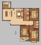 豫大・香港城3室2厅2卫0平方米户型图