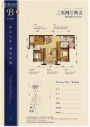 碧桂园天誉3室2厅2卫0平方米户型图