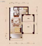 碧兰轩1室1厅1卫52平方米户型图