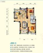安阳碧桂园3室2厅2卫122平方米户型图