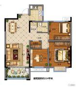 福园小区3室2厅1卫114平方米户型图